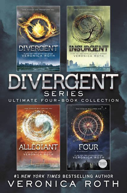 divergent divergent series 1 by veronica roth divergent series ultimate four book collection veronica