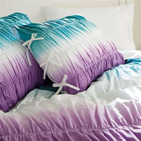 Dip Dye Comforter by Dip Dye Ruched Duvet Cover Sham Pbteen