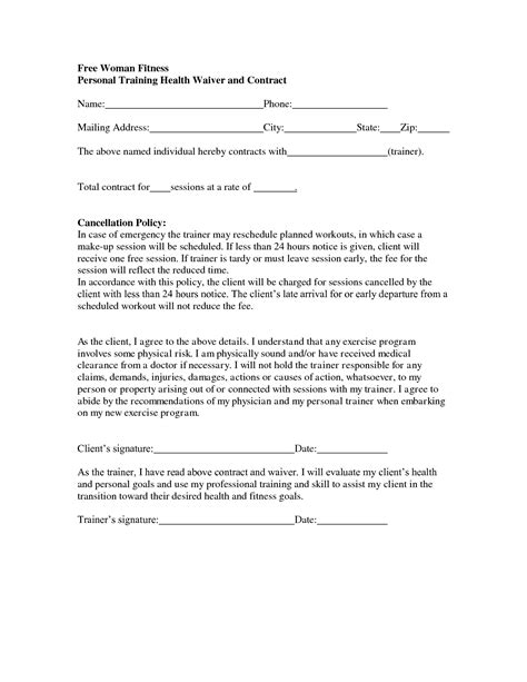 Personal Agreement Letter Template Personal Contract Template Free Printable Documents