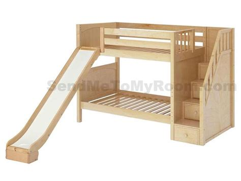 staircase for bunk bed stellar medium bunk bed with slide and staircase