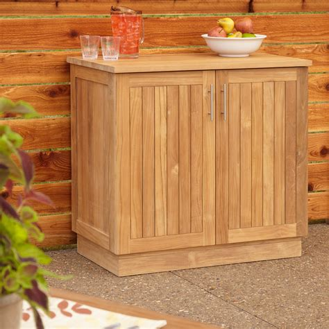 teak storage cabinet outdoor 36 quot artois teak outdoor kitchen cabinet outdoor