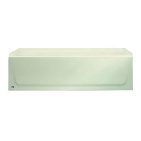 bootz industries bathtub bootz industries aloha 5 ft left hand drain bathtub in bone