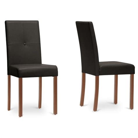 baxton studio dining chairs baxton studio curtis dining chair in brown set of 2