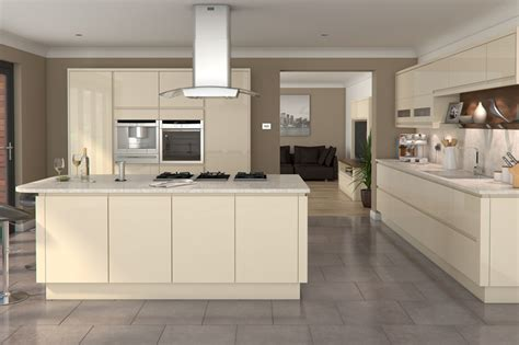 cream gloss kitchen ideas welford cream luca gloss alabaster kitchens buy