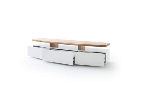 meuble tv design ch 234 ne massif et blanc cbc meubles