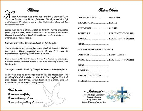 printable obituary template 8 free printable obituary templatesreference letters