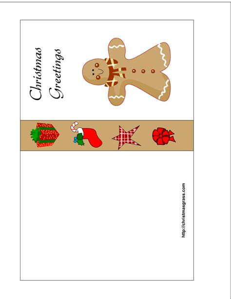 Cards Printable - free printable card with gingerbread