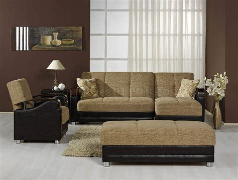 two tone living room modern two tone living room w multifunction sectional sofa bed