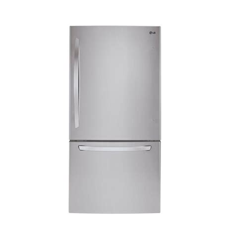 lg 24 cu ft refrigerator with bottom mount freezer in