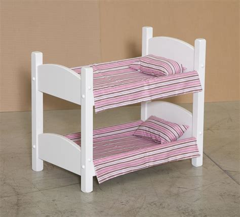 doll bunk bed american made wooden doll bunk bed