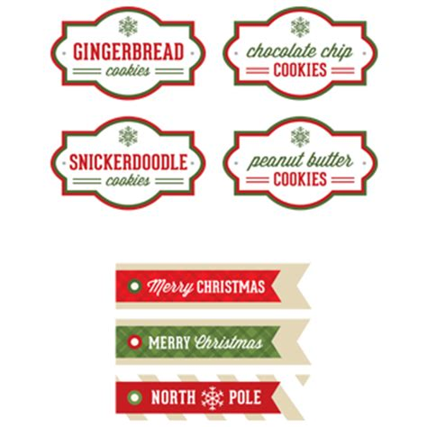 Christmas Cookie Labels Templates editable label new calendar template site