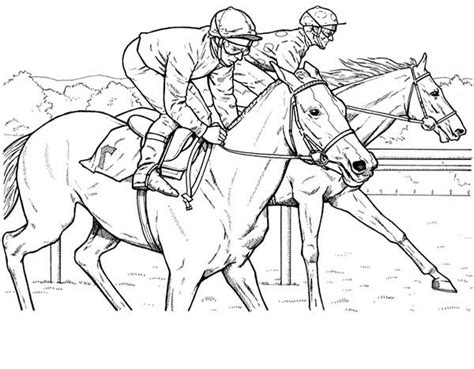 race horses color pictures print coloring pages 2