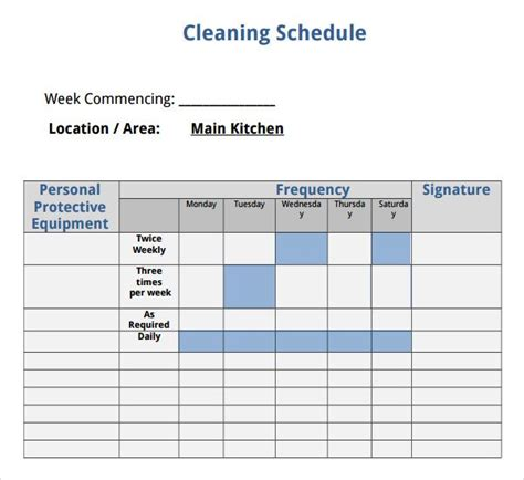 domestic cleaning schedule template 17 best ideas about cleaning schedule templates on