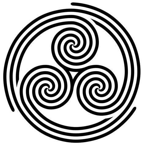 triple spiral tattoo designs file spiral triskelion svg wikimedia commons