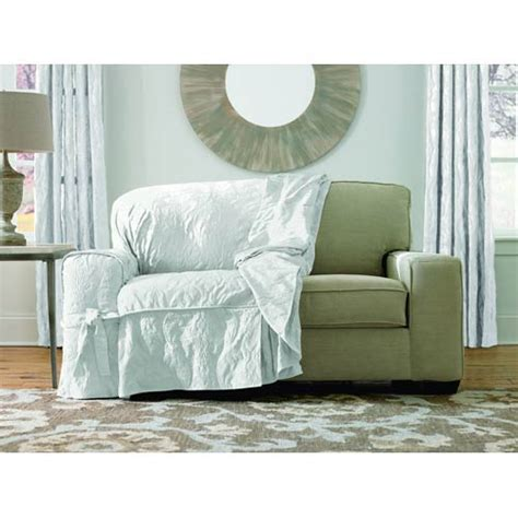 white loveseat slipcover white matelasse damask loveseat slipcover sure fit