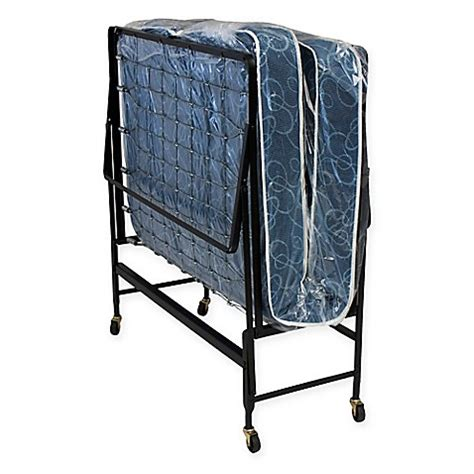 foldable twin bed serta 174 twin rollaway folding bed with innerspring mattress