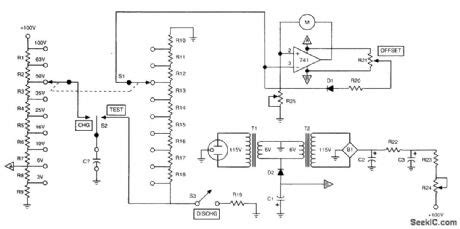 high voltage capacitor leakage tester index 34 measuring and test circuit circuit diagram