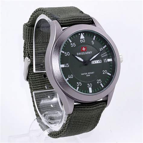 Jam Tangan Murah Swiss Army Canvas Hijau Army Simple harga sarap jam tangan swiss army sa5034m canvas hijau tua