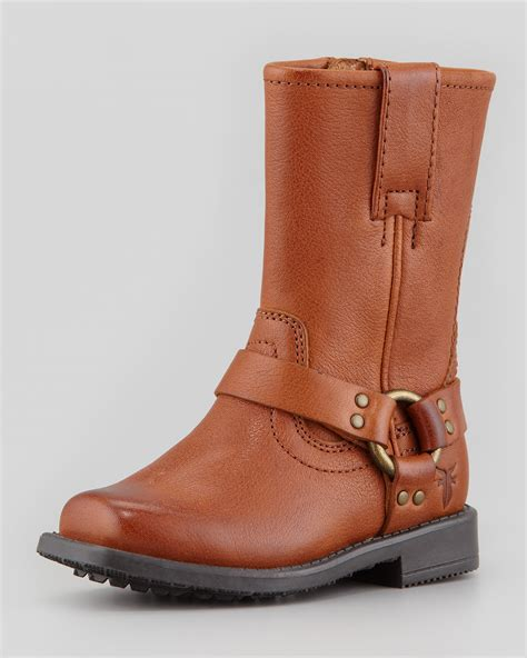 boot and saddle frye leather harness boot saddle in brown saddle lyst