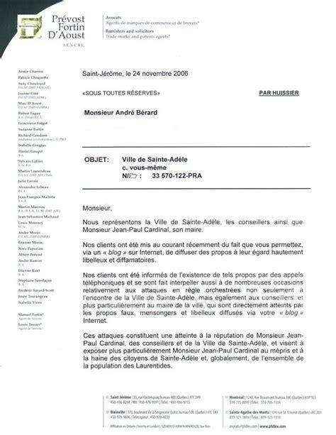 Exemple Lettre Mise En Demeure Impayé Modele Mise En Demeure Atteinte A La Reputation Document