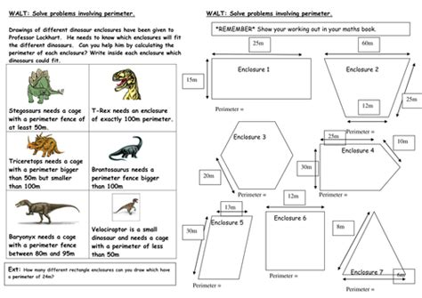 the floor chart answer key dinosaur perimeter investigation by mrspomme teaching