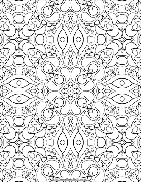 abstract coloring pages pinterest free adult coloring page abstract pattern by thaneeya