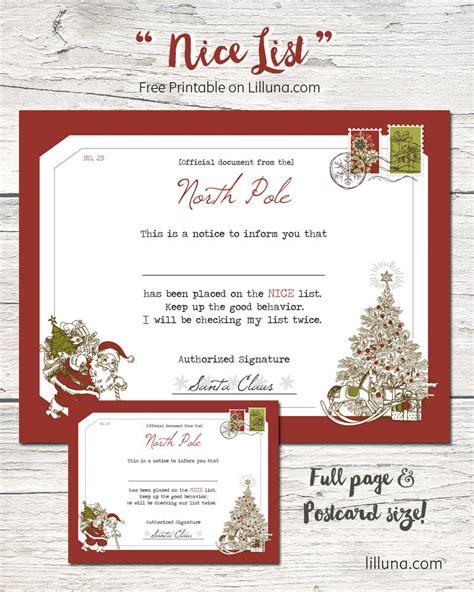 santa s nice list certificate