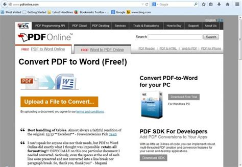 convert pdf to word free without email how to convert a document to pdf without downloading