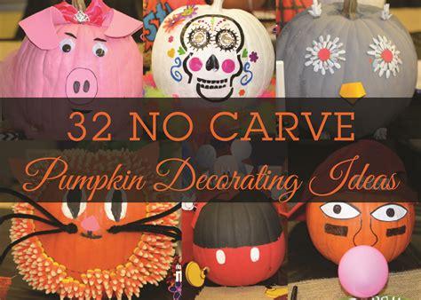 No Carve Pumpkin Decorating Ideas by 32 No Carve Pumpkin Decorating Ideas