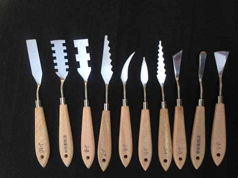 V Tec Paint Knife Type J 02 10 pieces lot steel professional painting palette