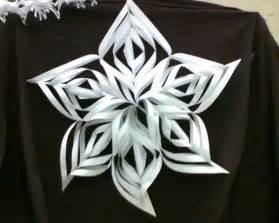 recycling paper and making snowflakes winter craft ideas