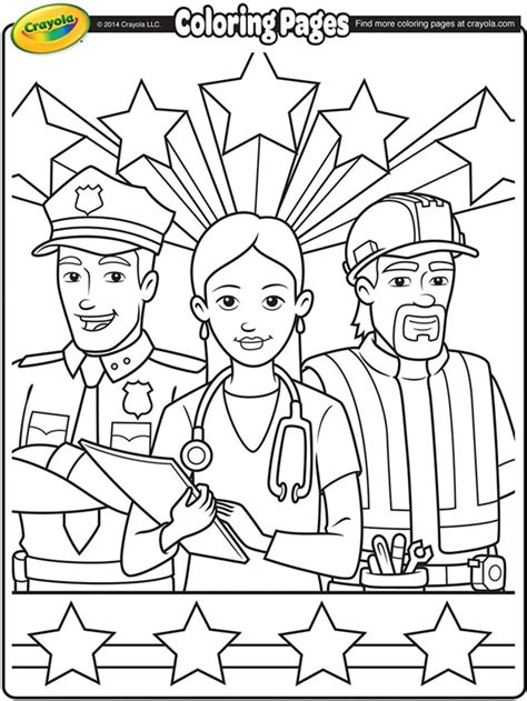 printable coloring pages for labor day labor day workers coloring page crayola com