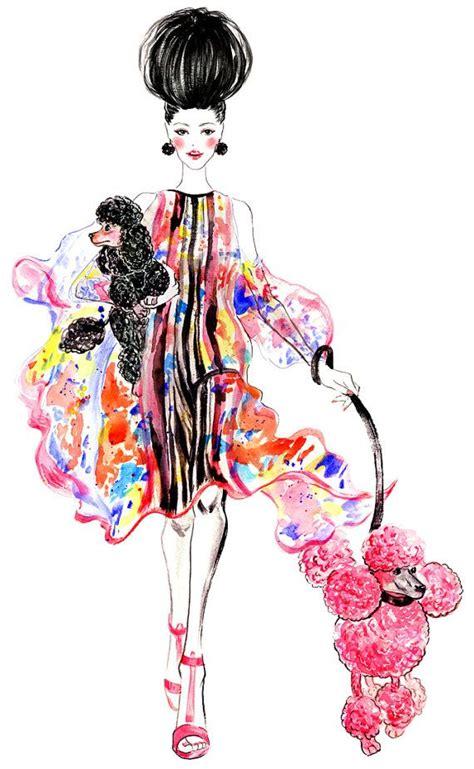 fashion illustration watercolor poodles watercolor fashion illustration illustrations