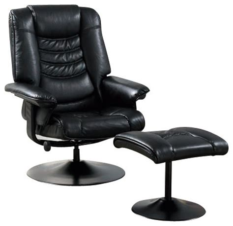 swivel accent chair with ottoman black leather look metal swivel recliner with ottoman