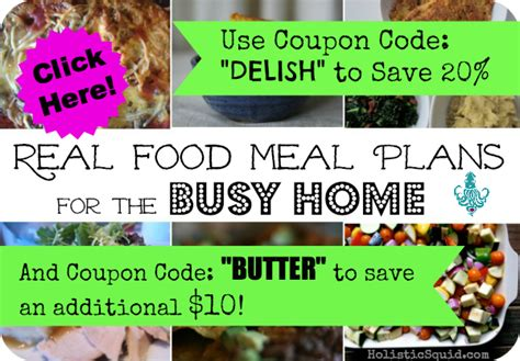 Meal Planning Coupons For Your real food meal plans sale get 20 plus an 10