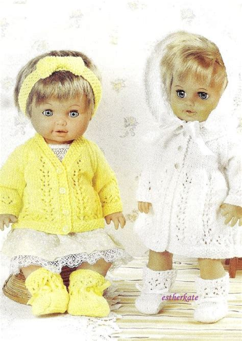 downloadable baby doll knitting patterns vintage knitting pattern pdf dolls clothes cardigan and