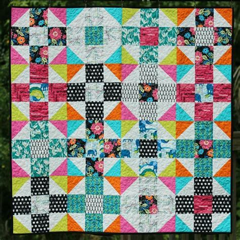 Craftdrawer Crafts Free Quilt Pattern Patchwork Throw - simple quilt patterns 7 designs for stress free
