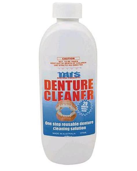 Bench Plaque Tats Denture Cleaner