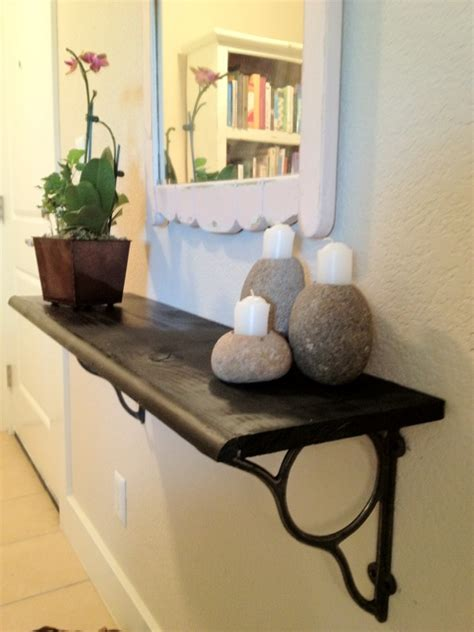 Entryway Wall Mirror Diy Floating Shelf In Small Foyer Cozy Bliss
