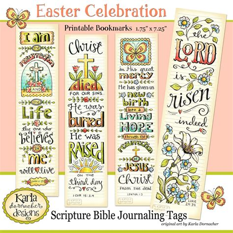 printable religious easter bookmarks easter full color printable bible journaling bookmarks