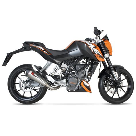 Ktm Exhaust Scorpion Serket Taper Stainless Oval Exhaust Ktm Duke 125