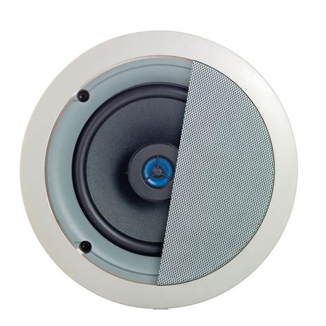 outdoor in ceiling speakers leviton spec grade sound 120 watt 2 way in ceiling speakers white 1 pair sgc65 w the home depot
