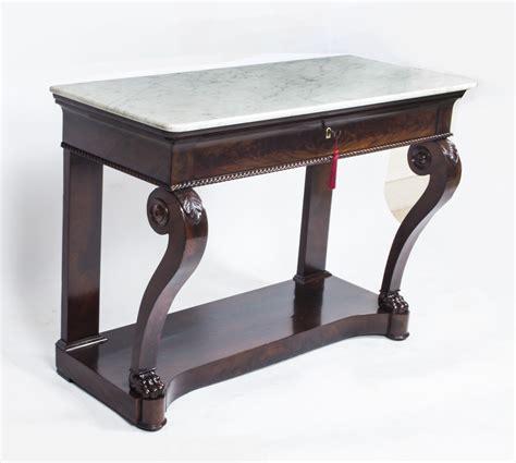mahogany console table antique charles x mahogany console table c1825