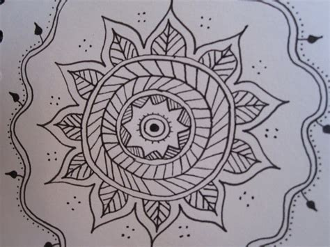 pattern for drawing around drawing near mandalas