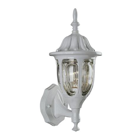 White Outdoor Wall Lights Shop Galaxy 15 In H White Outdoor Wall Light At Lowes