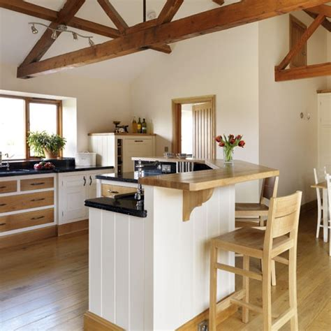 Breakfast Bar Kitchen by Take A Tour Around A Neutral Barn Conversion Kitchen Housetohome Co Uk