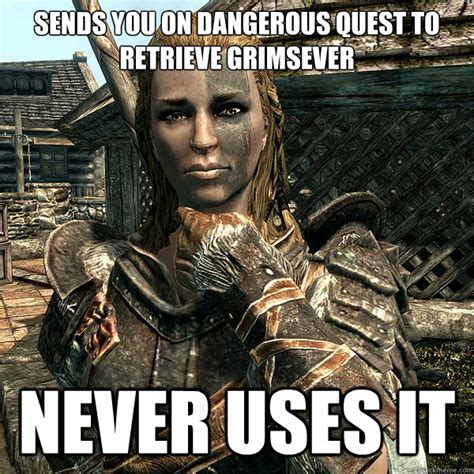Meme Quest - sends you on dangerous quest to retrieve grimsever never