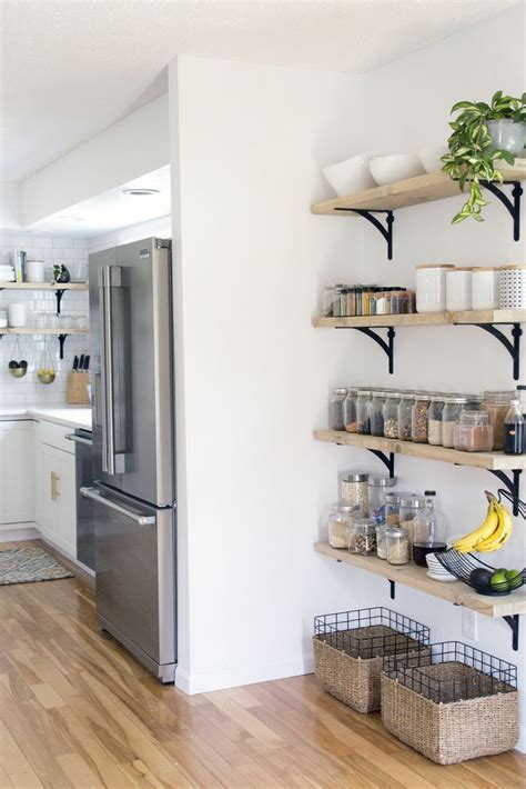 kitchen pantry shelf ideas 25 best ideas about kitchen shelves on open