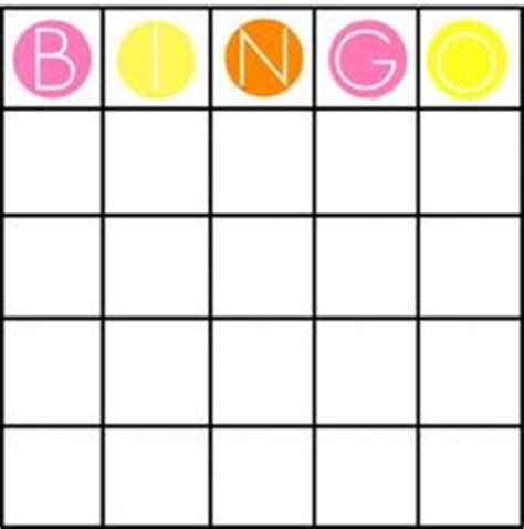 4x4 Card Template by 4x4 Bingo Cards Search Maths More