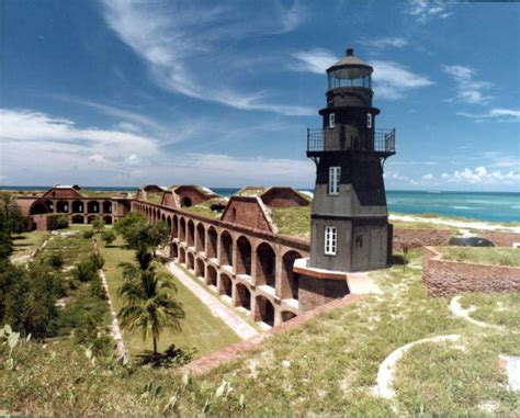 florida memory fort jefferson lighthouse garden key